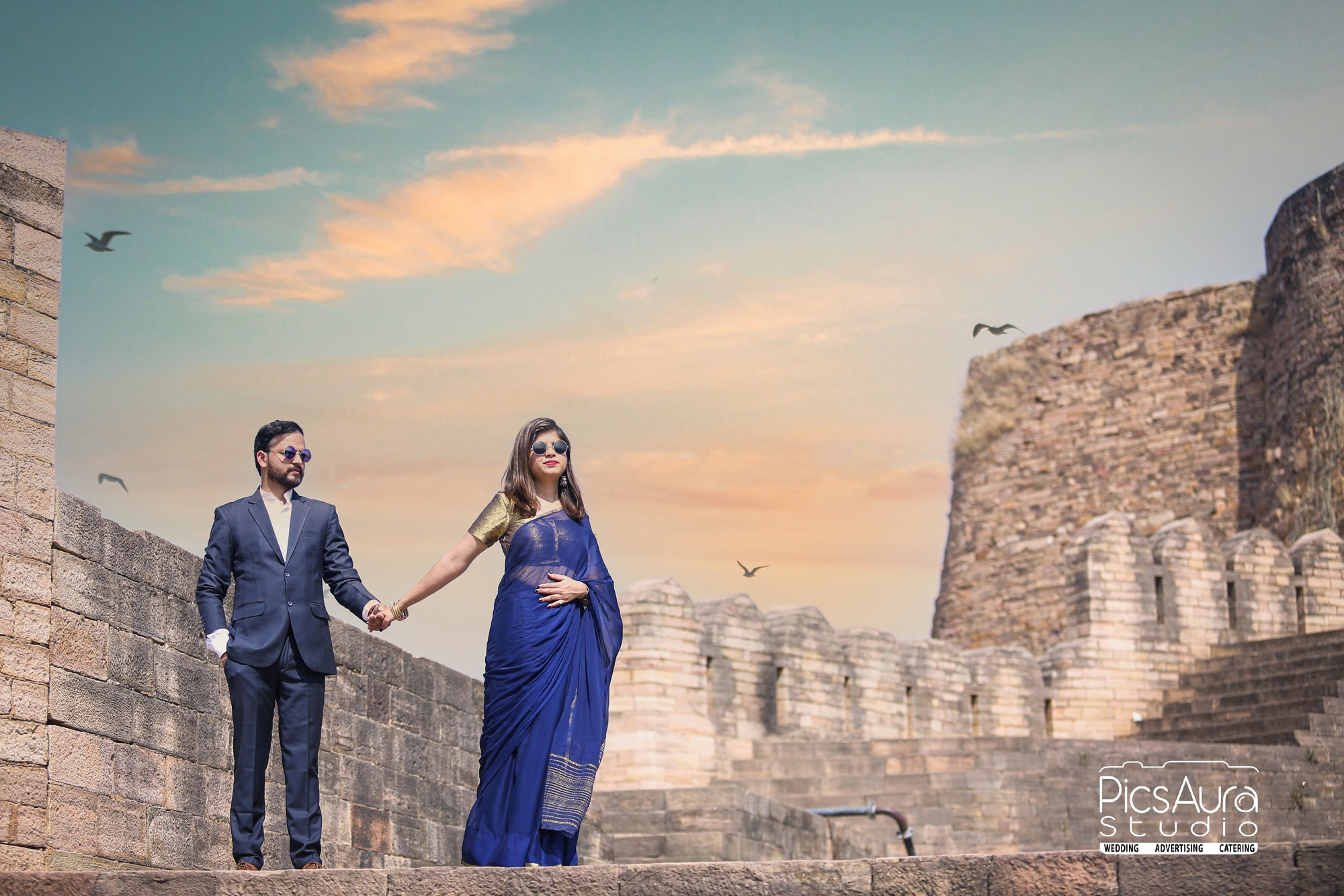 pre wedding photography at gwalior fort