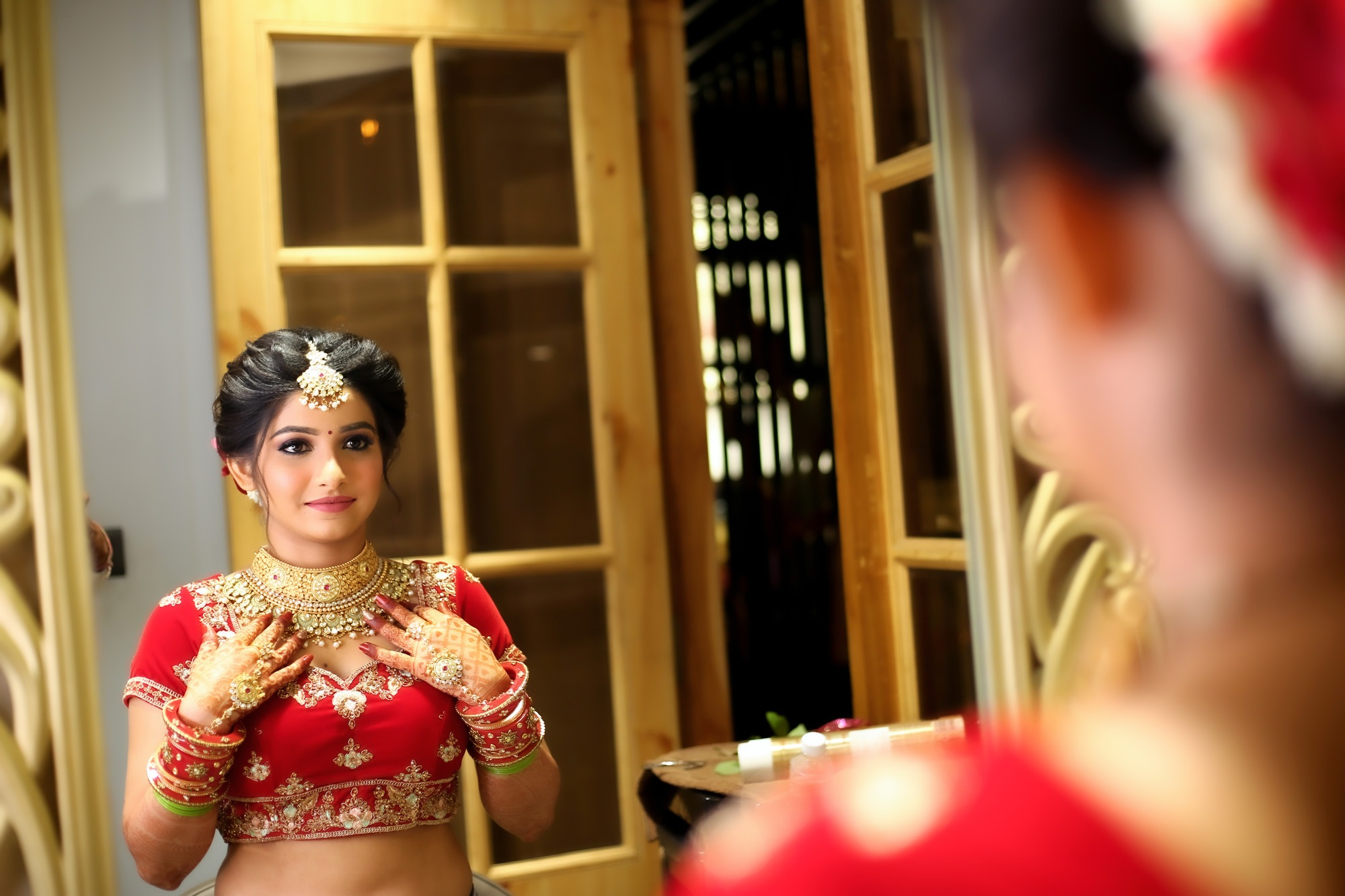 Bridal candid photography